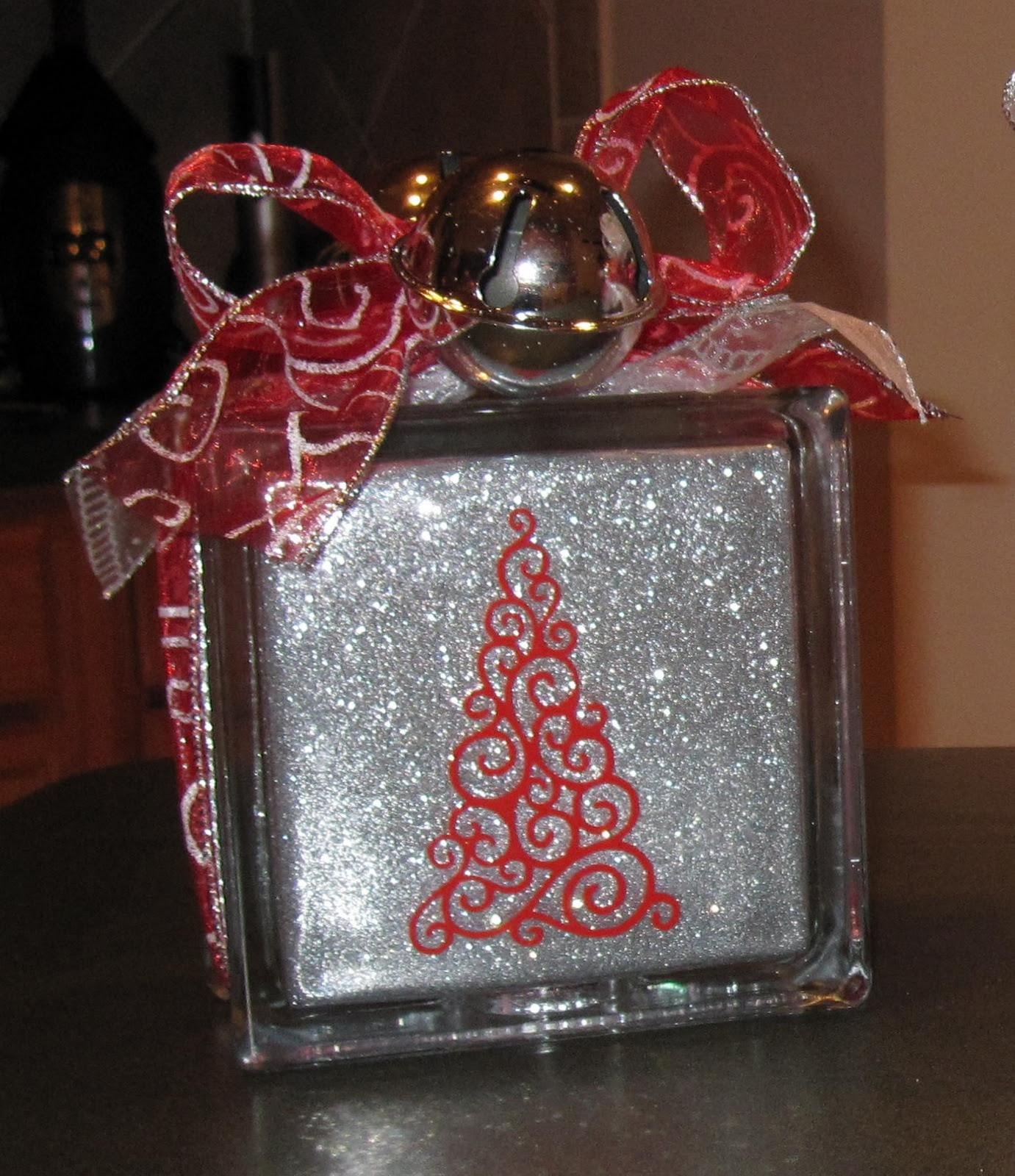 Glass block crafts projects - Glass Blocks Glitter The Final Project